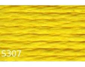embroidery thread cotton, yellow, yellow, lemon, citrus number 30307 or S 307 brand DMC