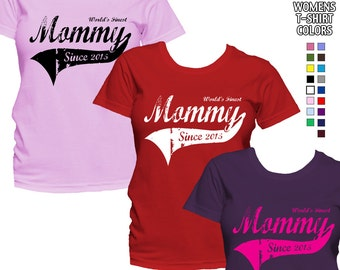 World's Finest Mommy - Personalized with Year - Classic Fit Ladies' T-Shirt
