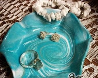 Ride The Wave Trinket Dish, Jewelry Dish, Nightstand Dish