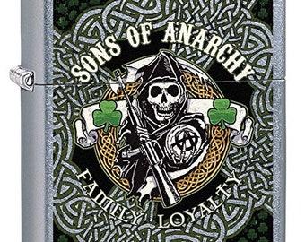 Sons Of Anarchy Ireland Shamrocks  Zippo Lighter