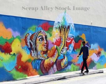 Stock Image - Singapore - Street Art - Graffiti