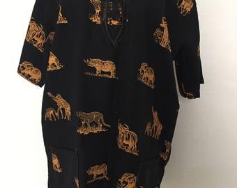 African print tunic shirt