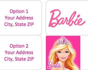 BARBIE Personalized Address Labels: 4 Image Choices Available!