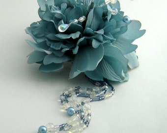 Blue Peony Hair Ornament