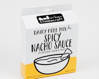 NEW - Spicy Nacho - Dairy Free, Vegan, Paleo Cheese Sauce Mix