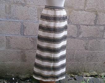 Vintage 60s Metallic Maxi Skirt