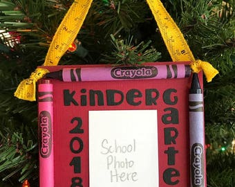 2018 Kindergarten Crayon Keepsake School Photo Ornament