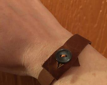 Orange You Glad: Wrapped Leather Bracelet
