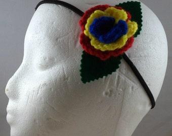 Crocheted Rose Headband - Hero (SWG-HH-HEFC01)