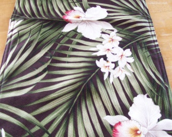 Runner - 72 x 14 Tropical Orchid with plumerias