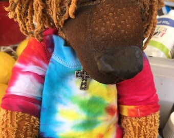 Scooby - Recycled Chenille OOAK Artist Bear