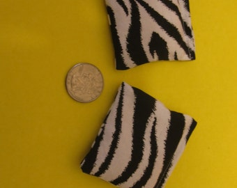 2 Zebra Rice Bags - Nail Application - Hot or Cold Compress - Pick Your Size