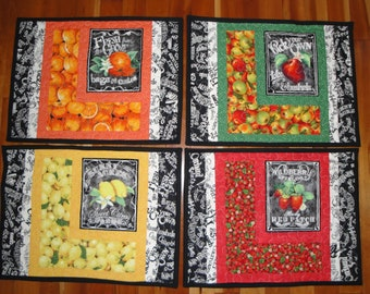 Fruits Placemats - set of 4
