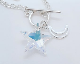 Star and Moon toggle pendant
