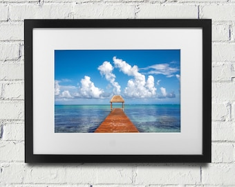 Tulum Mexico Beach Cancun Dock Pier Ocean Like Peter Lik Blue Water