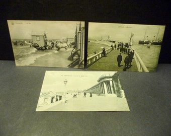 3 Aq. Ostende France postcards- early 1900s