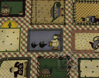 """Mumms the Word 24 Quilt Labels  Gift Tags Panel by Debbie Mumm 42""""-44""""wide 100% cotton South Sea Imports"""