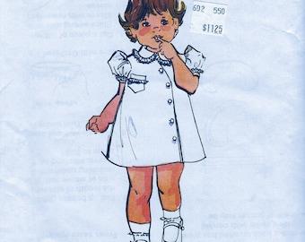 "UNCUT *  Vintage  Children's Corner  Pattern 15A  -  ""Jenni Leigh""  Apron Dress for girls or boys Sizes 6-12-18 Months"