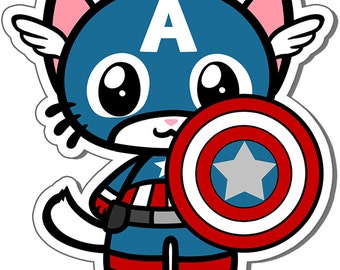 Captain Americat Vinyl Sticker - 3 Inch