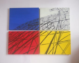 Painting Pop Art Ferris wheel, on four tele
