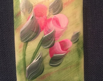 HAND PAINTED SOAPS Choose any color Rosebud painted soap bar Roses soap hypoallergenic soaps