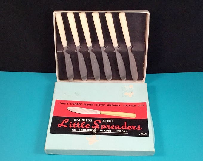 """Mid Century Stainless Steel """"Little Spreaders"""""""