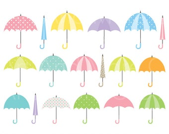 ON SALE Umbrellas clip art Digital clip art umbrella
