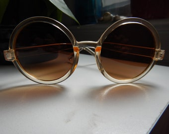 Jahrgang 1960 Runde durchscheinend Sonnenbrille