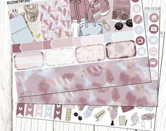 Goal Digger || Girl Boss, Hustle, Office, Fashion, Girl, Planner Stickers, MINI KIT