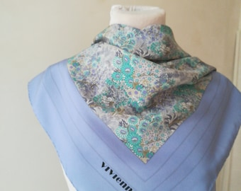 Vivienne vintage silk scarves in heavenly flowers