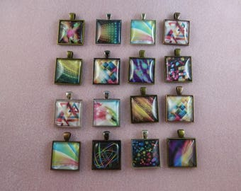 CLEARANCE: Abstract Digital Art Pendants