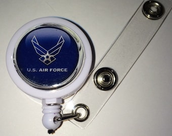 US Air Force Themed  ID Badge Reel