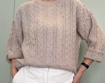 Vintage twisted mesh sweater