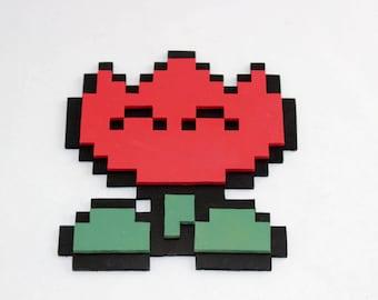 Wooden 8-bit flower power