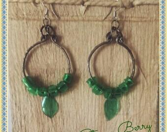 Boho chic pet Round long earrings