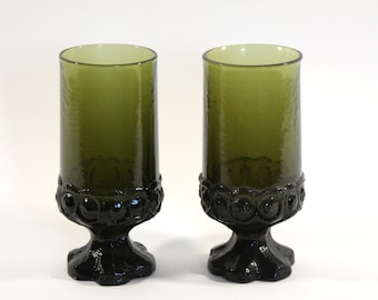 Green Franciscan Madeira. Set of Two Drinking Goblets