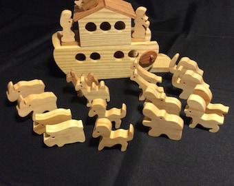 Noah's Ark, Wooden Ark,  Toy Ark
