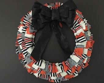 Halloween Ribbon Wreah 20 inch