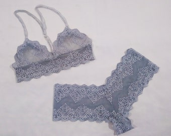 Blue Sunrise Bra and Panty Set