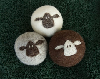 Wool Dryer Balls / large dryer balls / eco-friendly dryer balls / fiber art /baby shower gift / housewarming gift