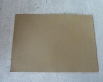 rectangle beige leather 10 x 15 cm