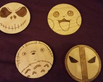 Set of four custom coasters! Any characters, any colour felt
