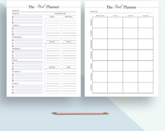 meal planner, weekly meal planner, printable planner, meal plan, menu planner , meal planner insert ,printable meal plan, A4 , A5, Letter