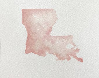"Original Watercolor, Louisiana 5""x 7"""