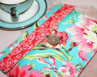 iPad Envelope Case, Ipad Case, Ipad Sleeve, Ipad envelope cover, case, holder Ipad 2 Case, Ipad 2 Cover in Hawaiian Flowers