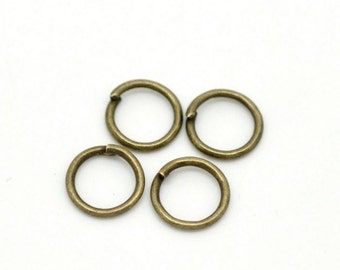 150 - 7mm Bronze Plated Jump Rings