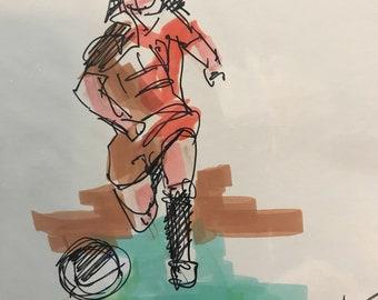 Lady soccer player