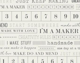 Maker -- I am a Maker -- 1/2 YD