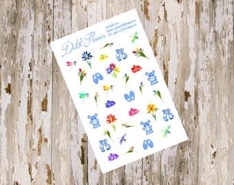 Dutch Flowers Sticker Sheet