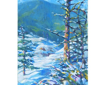 Lincoln Gap Giclee Fine Art Print of Original Oil Painting